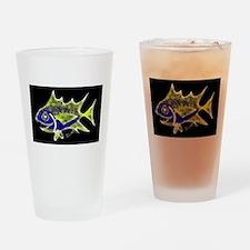 Retro Tuna 1 Art Drinking Glass