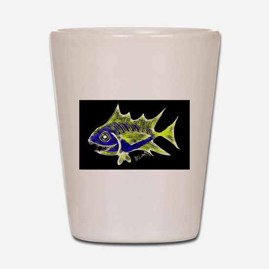 Retro Tuna 1 Art Shot Glass