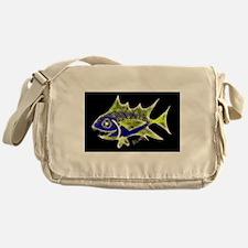 Retro Tuna 1 Art Messenger Bag