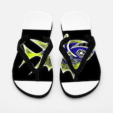 Retro Tuna 1 Art Flip Flops