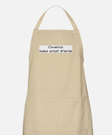 Cavapoos make friends BBQ Apron