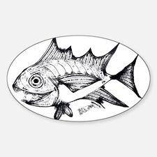 Tuna Fish black and white Decal