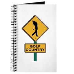 Golf Country Road Sign Journal
