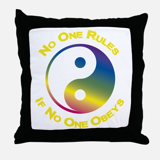Funny Eastern philosophy Throw Pillow