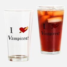 I Slay Vampires Drinking Glass