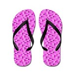 Pink and Purple Polka Dots Flip Flops