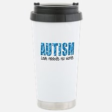 Autism Love Needs No Words Travel Mug