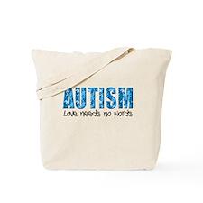 Autism Love Needs No Words Tote Bag