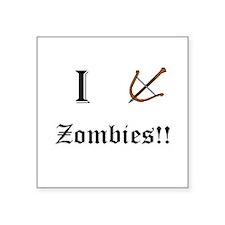 I destory Zombies Sticker