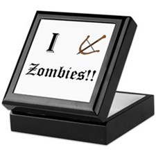 I destory Zombies Keepsake Box