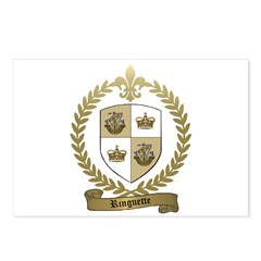 RINGUETTE Family Crest Postcards (Package of 8)