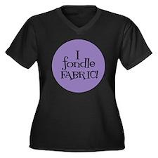 Sew Sassy -  Women's Plus Size Dark V-Neck T-Shirt