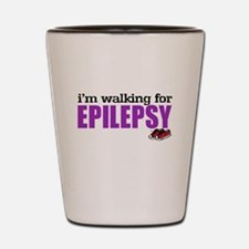 I'm walking for Epilepsy Shot Glass