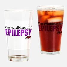 I'm walking for Epilepsy Drinking Glass