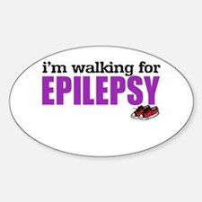 I'm walking for Epilepsy Decal