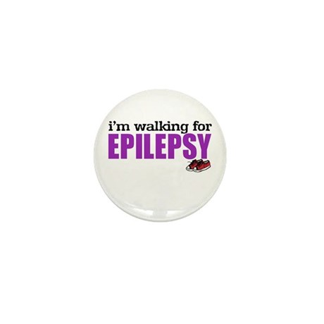 I'm walking for Epilepsy Mini Button (10 pack)