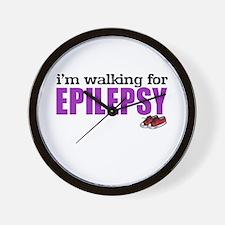 I'm walking for Epilepsy Wall Clock
