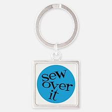Sew Sassy - Sew Over It Square Keychain