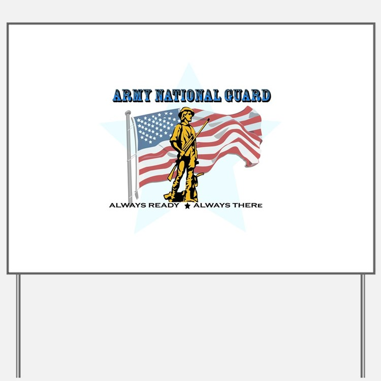 Army National Guard Yard Sign