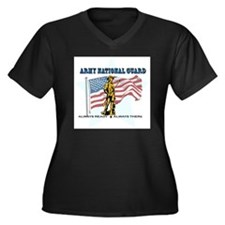 Army National Guard Women's Plus Size V-Neck Dark