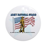 Army national guard Round Ornaments