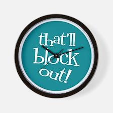 Knit Sassy - That'll Block Out! Wall Clock