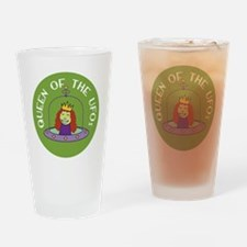 Sew Sassy / Knit Sassy - Queen of t Drinking Glass