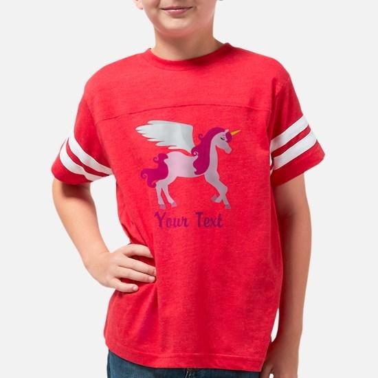 Cute Pink Flying Unicorn Youth Football Shirt