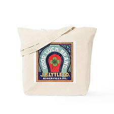 Good Luck Vintage Label Tote Bag