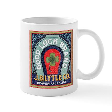 Good Luck Vintage Label Mug