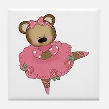 BALLERINA BEAR Tile Coaster