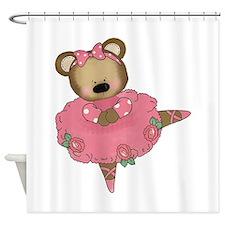 BALLERINA BEAR Shower Curtain
