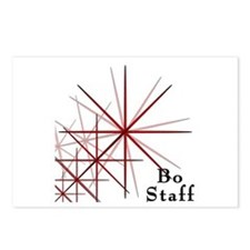 Martial Arts Bo Staff Postcards (Package of 8)
