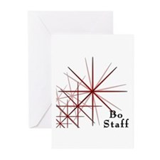 Martial Arts Bo Staff Greeting Cards (Pk of 10)
