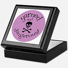 Knit Sassy - Yarned & Dangerous! Keepsake Box