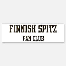 Finnish Spitz Fan Club Bumper Bumper Bumper Sticker