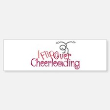 I Flip Over Cheerleading Bumper Car Car Sticker