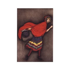 Harbour's Red Riding Hood Rectangle Magnet (10 pac