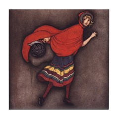 Harbour's Red Riding Hood Tile Coaster
