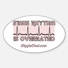 Sinus is Overrated Oval Decal