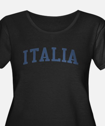 Italy Blue Plus Size T-Shirt