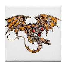 Dragon & the Sword Tile Coaster