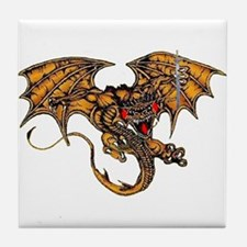 Dragon & the Sword Tile Coaster