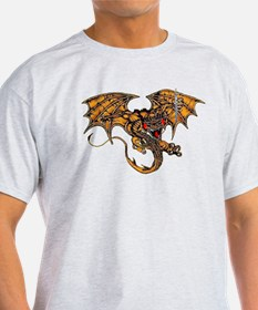 Dragon & the Sword Ash Grey T-Shirt