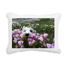 flower dobby Rectangular Canvas Pillow