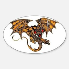 Dragon & the Sword Oval Decal