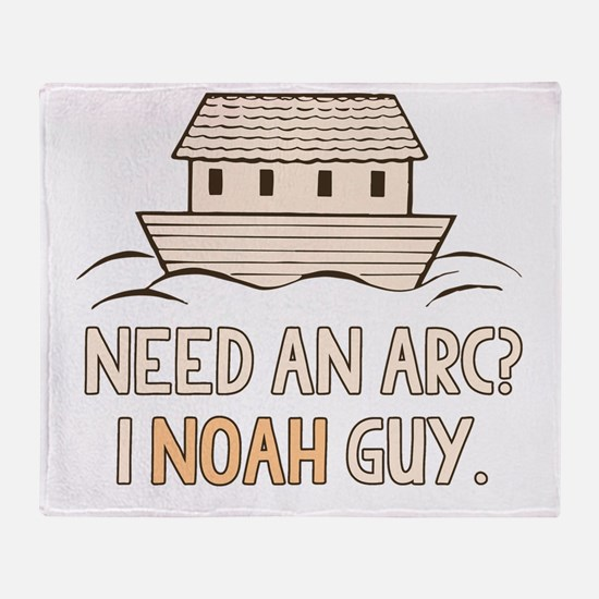 Need An Arc I Noah Guy Throw Blanket