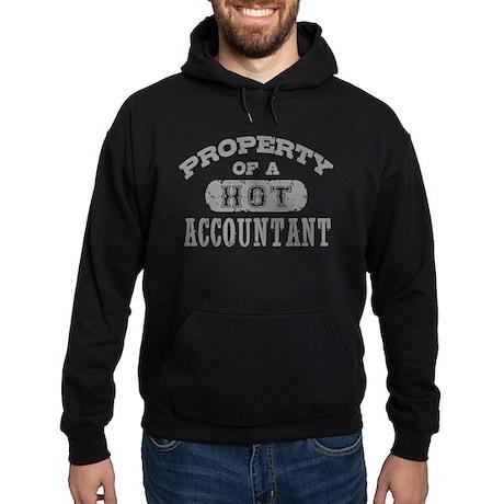 Property of a Hot Accountant Hoodie (dark)