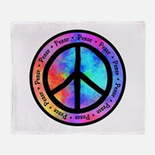 Distorted Peace Sign Throw Blanket