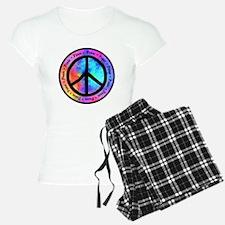 Distorted Peace Sign Pajamas
